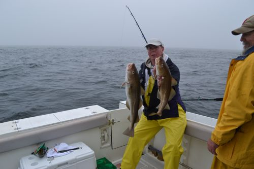 Catching Lots Of Fish While Deep Sea Fishing In Maine