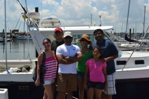 Family & friends on a Casco Bay Maine cruise